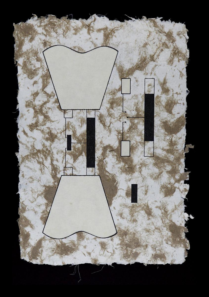 "Prob Tip (2) + Dummy Device, 2014<b>Ink on Handmade Yucatan Paper<br /> 8 1/2"" x 12 1/2""</b>"